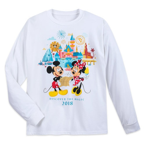 Mickey And Minnie Mouse Long Sleeve T Shirt For Adults
