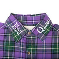 Image of Evil Queen Flannel Shirt for Adults by Cakeworthy # 5