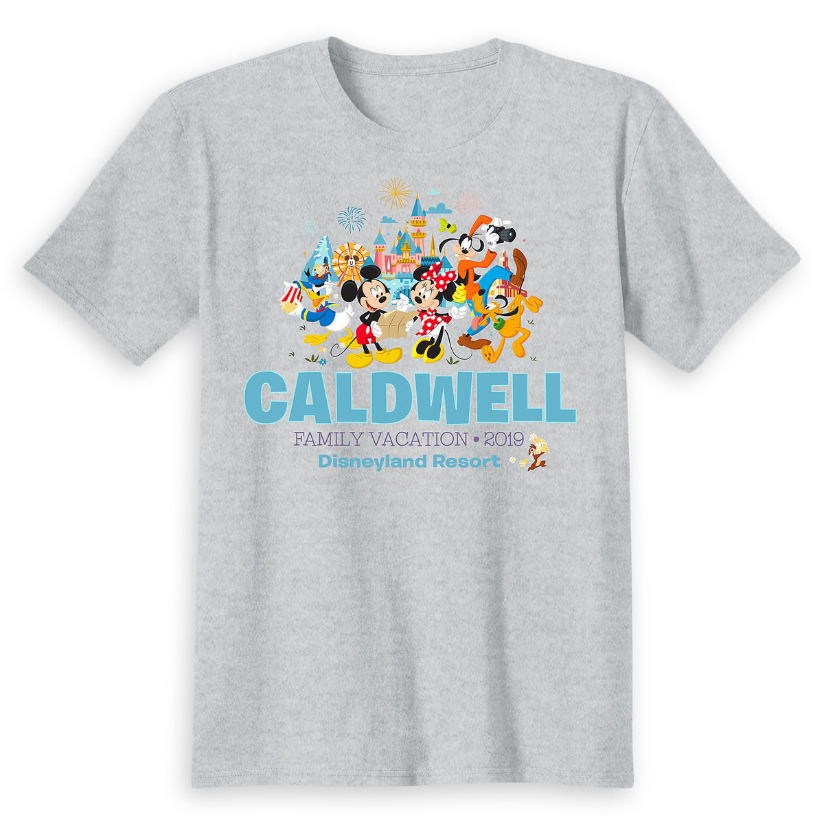 Thumbnail Image of Mickey Mouse and Friends Family Vacation T-Shirt for Kids - Disneyland 2019 - Customized # 1