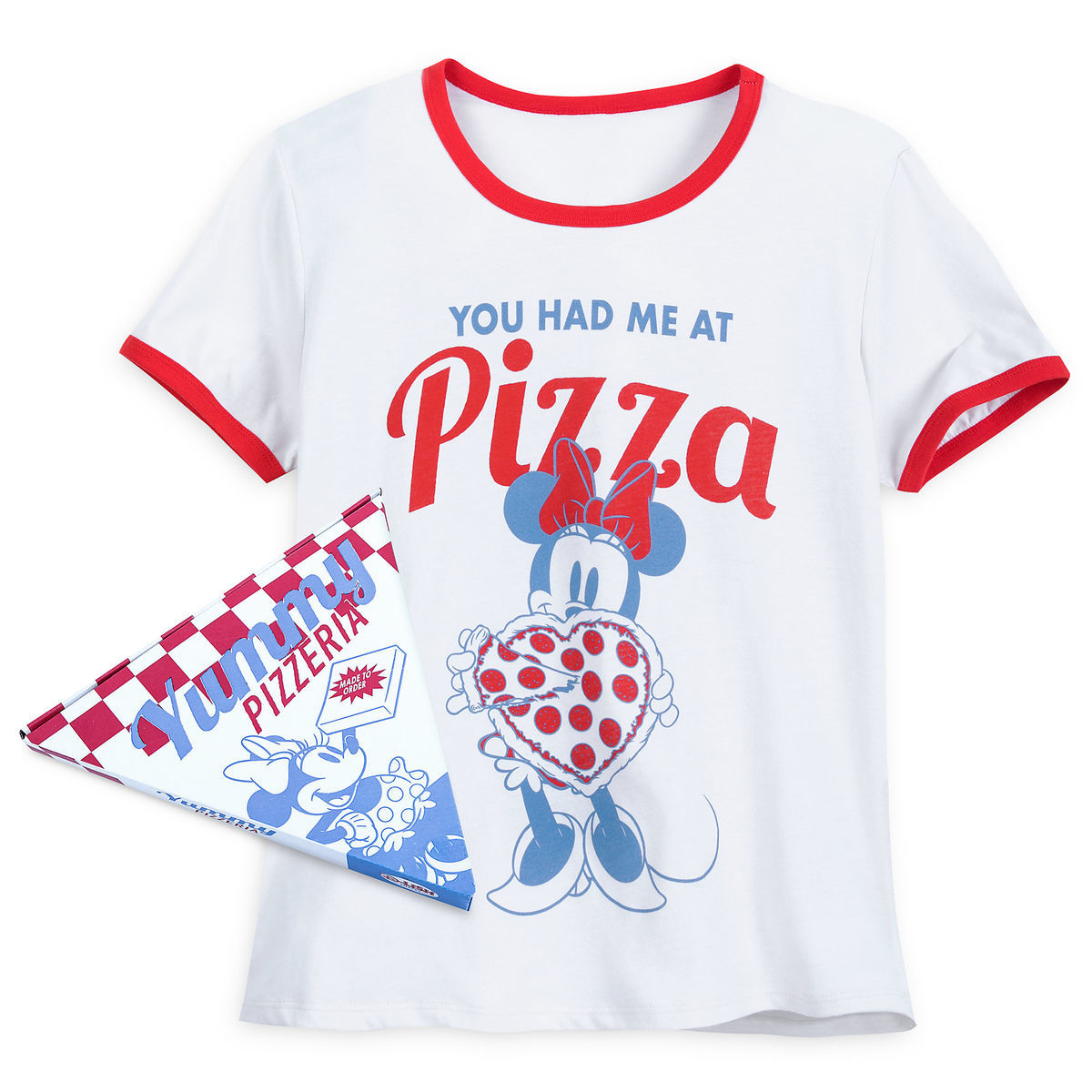 2bc151544e0 Product Image of Minnie Mouse Pizza Ringer T-Shirt for Women   1