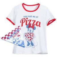 Image of Minnie Mouse Pizza Ringer T-Shirt for Women # 1