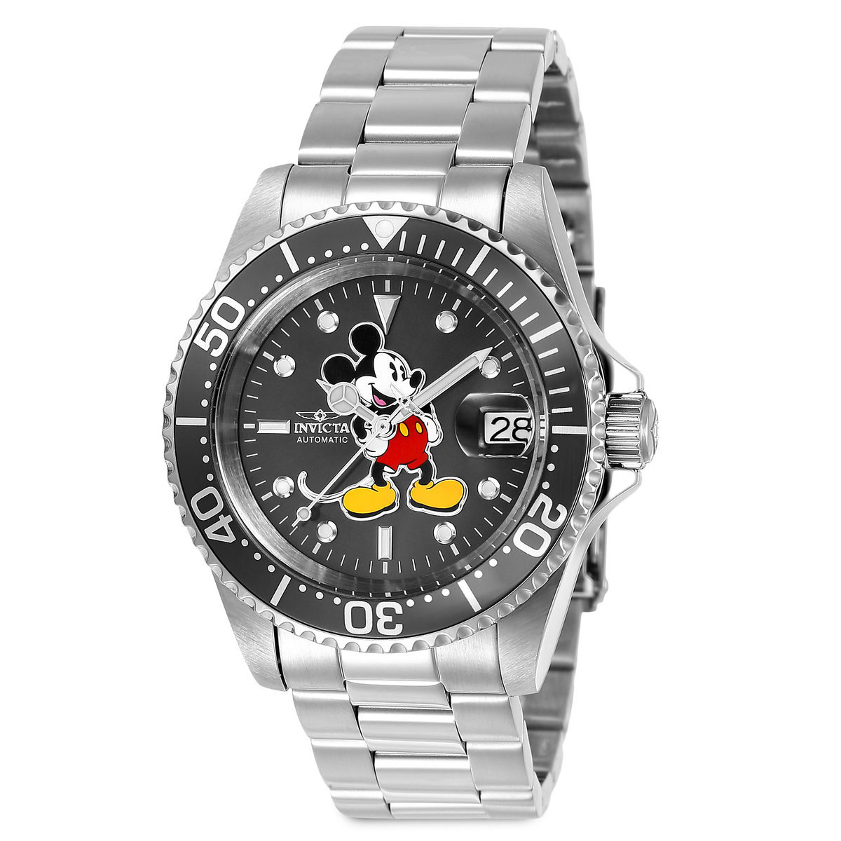 Product Image of Mickey Mouse Stainless Steel Watch for Men by INVICTA - Limited Edition # 1