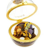 Image of Lumiere and Cogsworth Disney Duos Sketchbook Ornament - Beauty and the Beast - March - Limited Release # 2