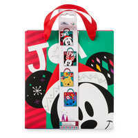 Image of Santa Mickey Mouse and Friends Small Gift Bag Set # 3