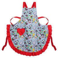 Image of Santa Mickey Mouse and Friends Holiday Apron # 1