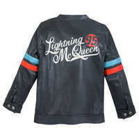 Image of Lightning McQueen Faux Leather Jacket for Boys # 2