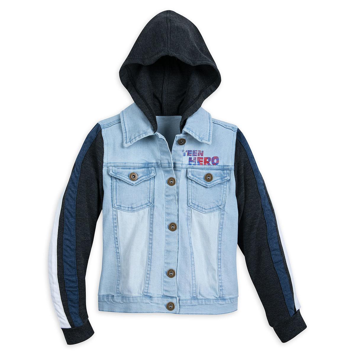 America Chavez Hooded Denim Jacket Top For Girls Marvel Rising