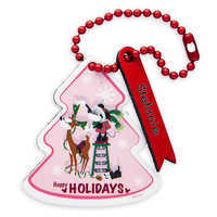 Image of Santa Minnie Mouse ''Happy Holidays'' Leather Luggage Tag - Personalizable # 1
