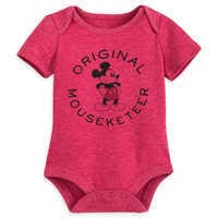 Image of Mickey Mouse Mouseketeer Disney Cuddly Bodysuit for Baby # 1
