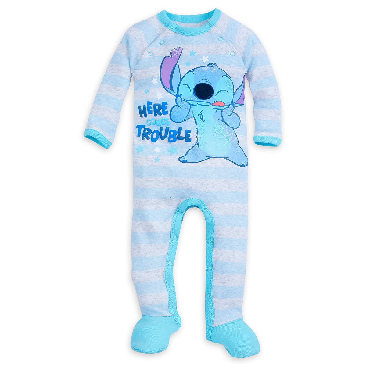 Stitch Footed Stretchie Sleeper for Baby | shopDisney