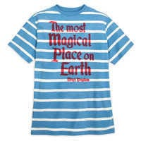 Image of Walt Disney World Striped Jersey T-Shirt for Men by Junk Food # 1