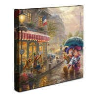 Image of ''Mickey and Minnie in Paris'' Gallery Wrapped Canvas by Thomas Kinkade Studios # 2