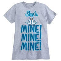 Image of Finding Nemo Seagulls ''She's Mine, Mine, Mine'' Couples T-Shirt for Adults # 1