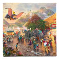 Image of ''Dumbo'' Gallery Wrapped Canvas by Thomas Kinkade Studios # 1