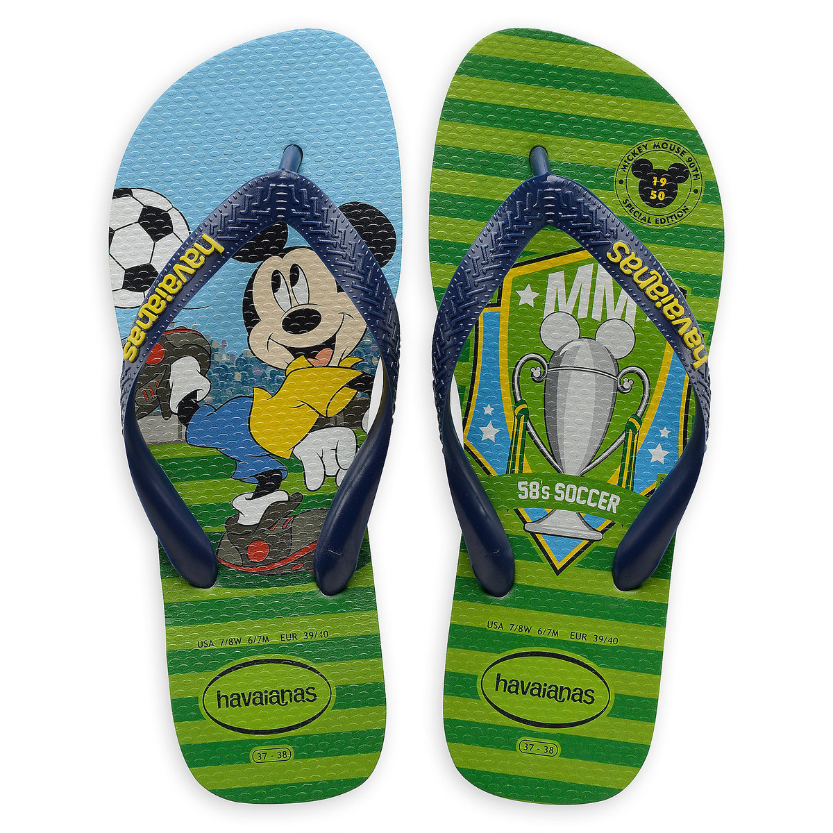 ab500a36571 Product Image of Mickey Mouse World Cup Flip Flops by Havaianas - 1950s   1
