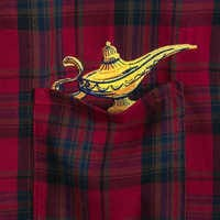 Image of Aladdin Genie Lamp Flannel Shirt for Adults by Cakeworthy - Live Action Film # 4