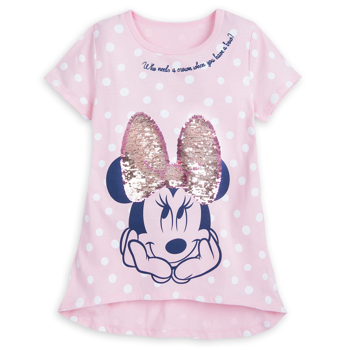 f4c979050 Product Image of Minnie Mouse Reversible Sequin T-Shirt for Girls - Walt  Disney World