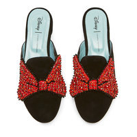 Image of Minnie Mouse Bow Mules for Women by Chiara Ferragni - Black # 1