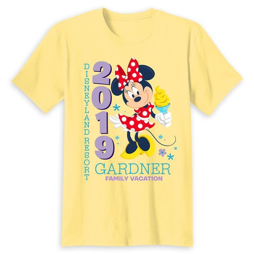 Minnie Mouse Family Vacation T-Shirt for Adults - Disneyland 2019 - Customized