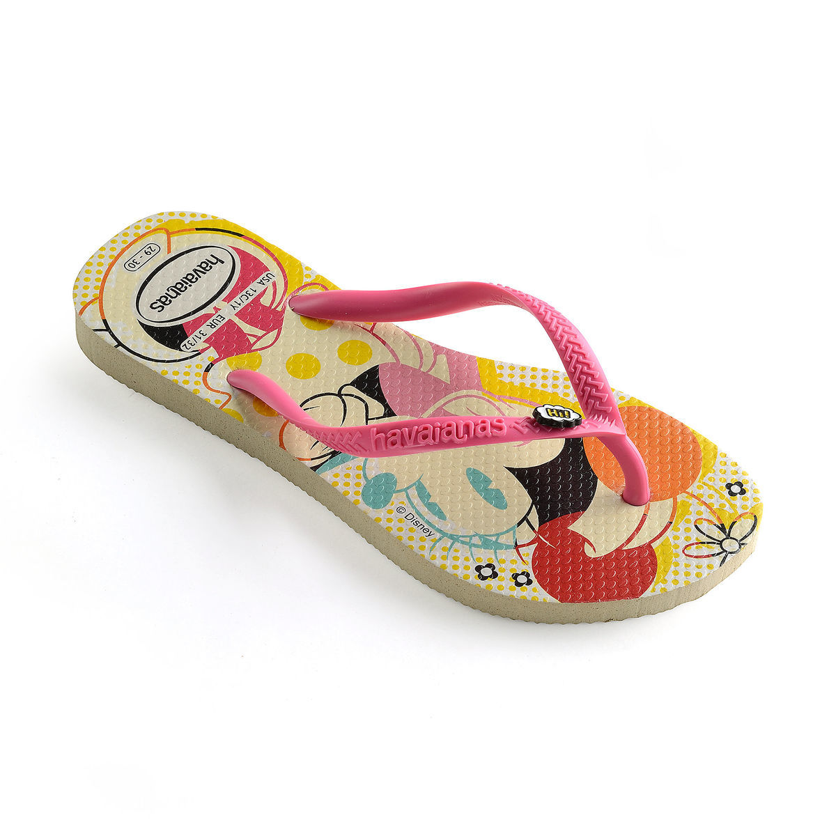4c4b99b43ce74c Product Image of Minnie Mouse Flip Flops for Kids by Havaianas   1