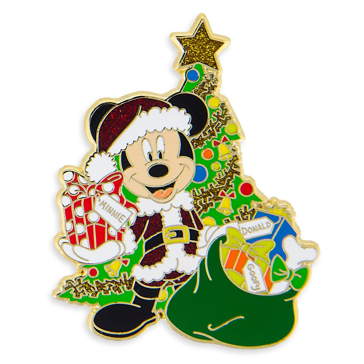 Product Image of Santa Mickey Mouse Holiday Pin # 1