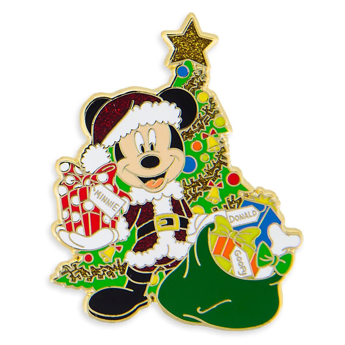 Product Image of Santa Mickey Mouse Holiday Pin # 1