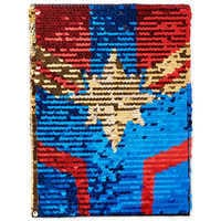 Image of Marvel's Captain Marvel Reversible Sequin Journal # 1