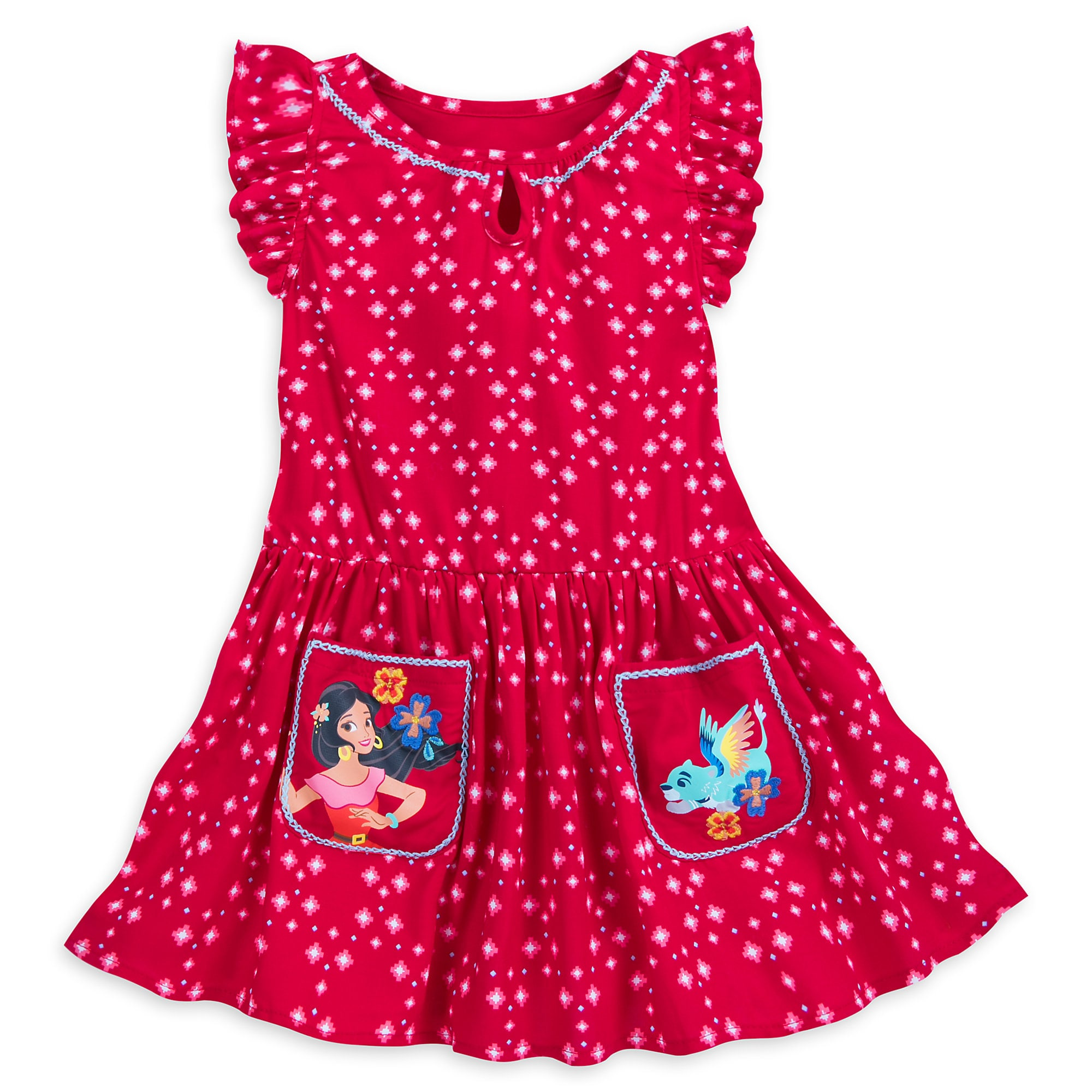 Elena Woven Dress for Girls