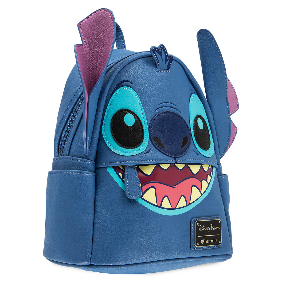 Product Image of Stitch Faux Leather Mini Backpack by Loungefly   1