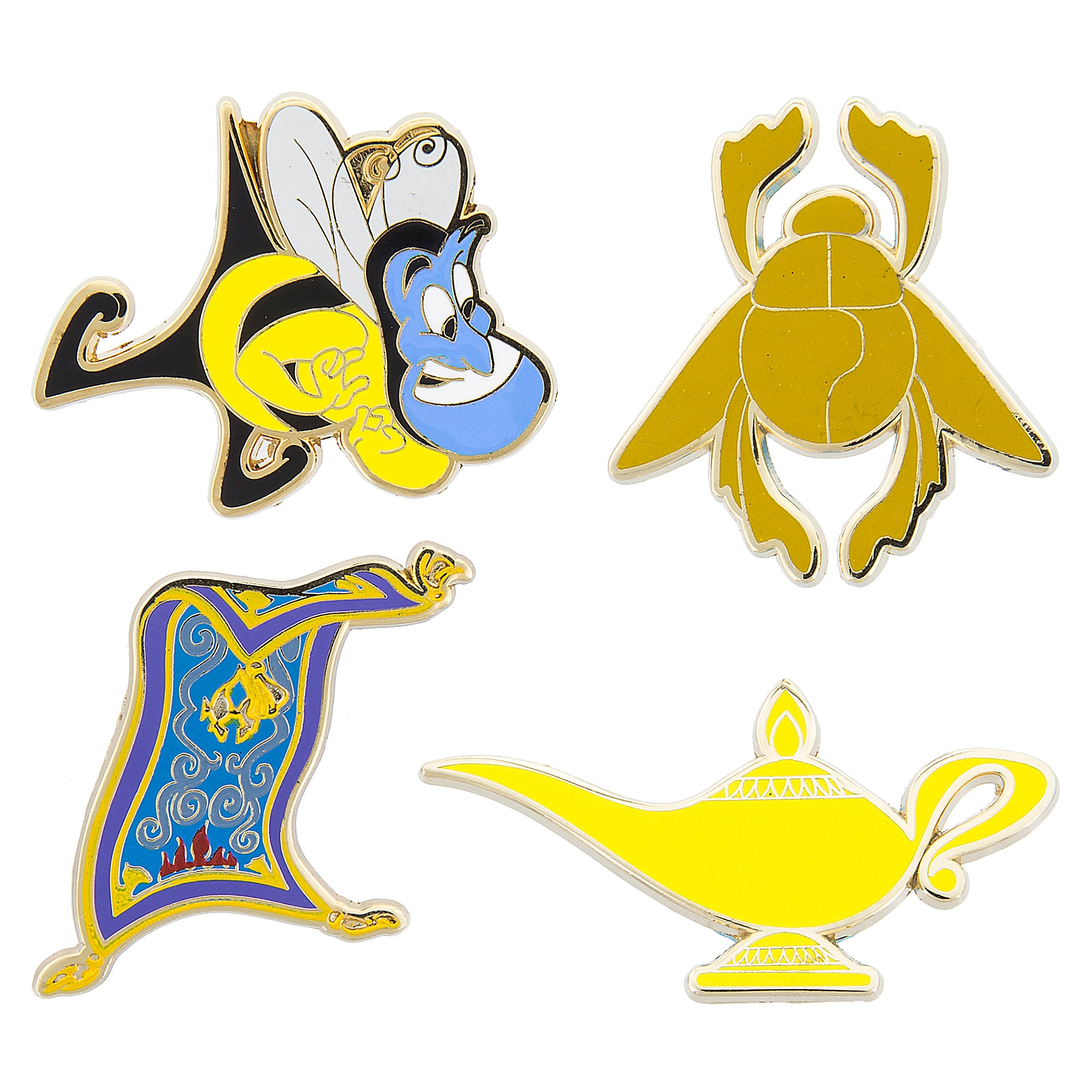 Aladdin Pin Trading Flair Set