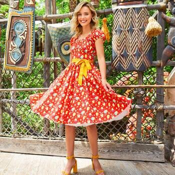 Pineapple Swirl Womens Dress