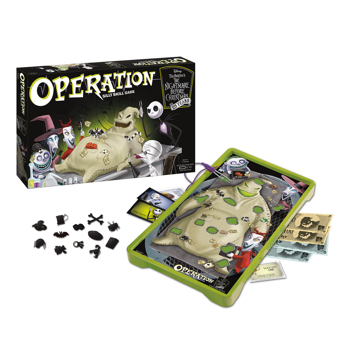 The Nightmare Before Christmas 25th Anniversary Operation Game ...