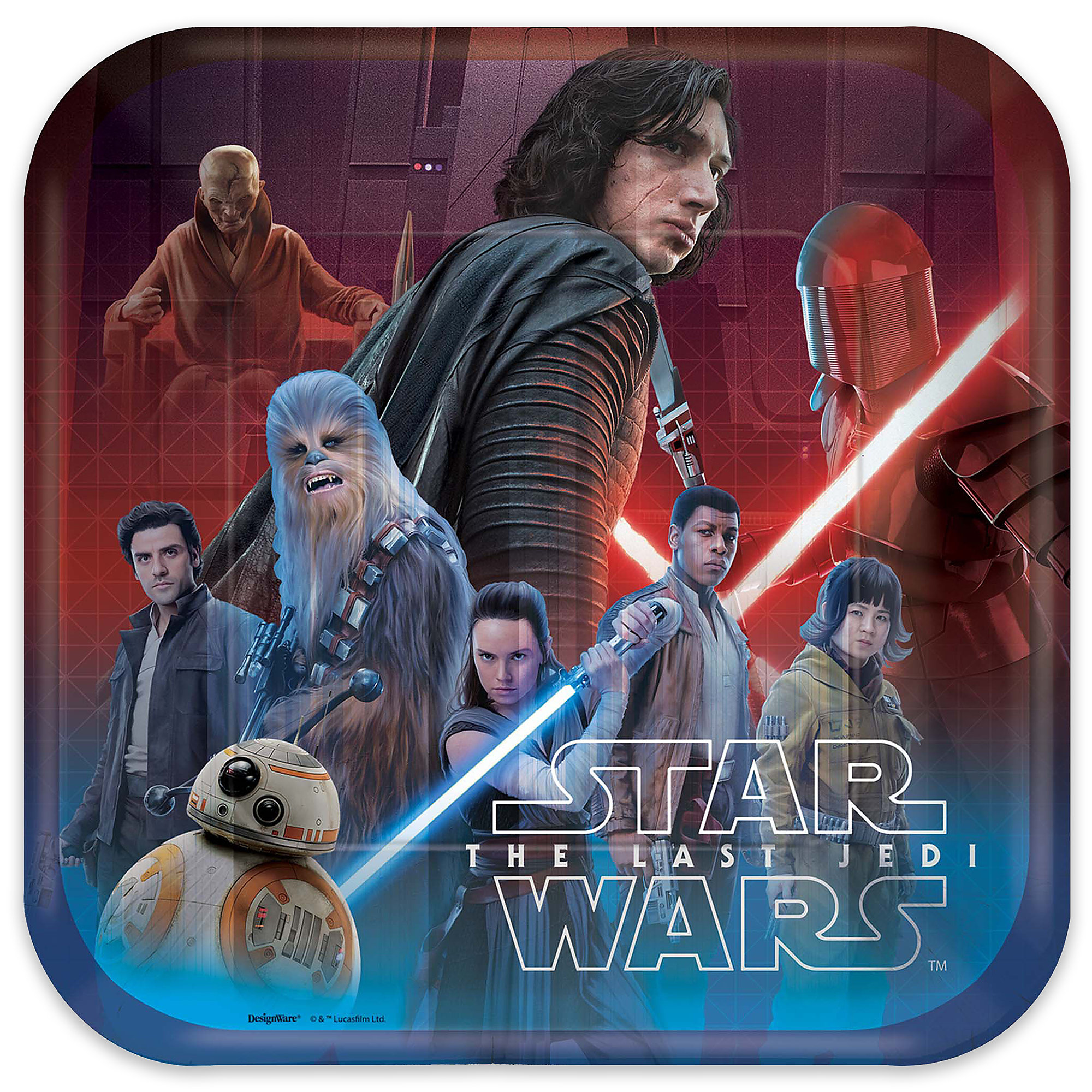 Star Wars: The Last Jedi Lunch Paper Plates