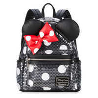 Image of Minnie Mouse Sequined Mini Backpack by Loungefly # 1