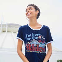 Image of Disney Parks ''I'm here for the Rides'' Ringer T-Shirt for Women # 2