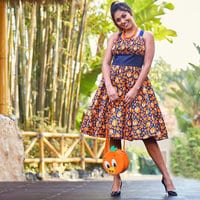 Image of Orange Bird Dress for Women # 7
