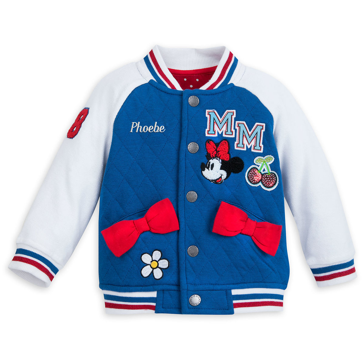 e019abdc2 Minnie Mouse Varsity Jacket for Baby - Personalizable