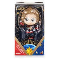 Image of Marvel's Captain Marvel Cosbaby Bobble-Head Figure by Hot Toys - Flying Version # 4