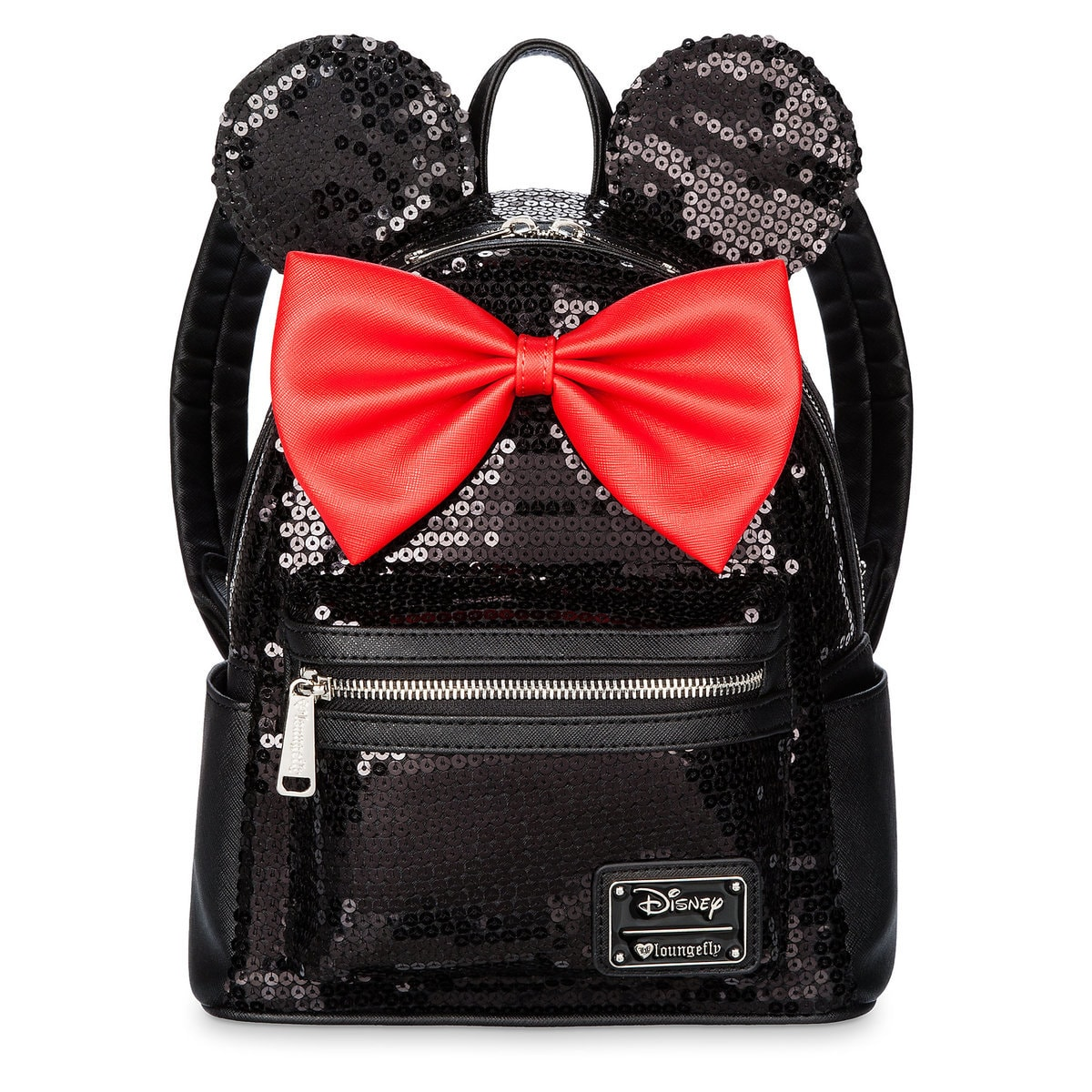 aecdd167e8 Product Image of Minnie Mouse Mini Backpack by Loungefly - Black Sequined    1
