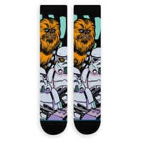 Image of Star Wars Warped Chewbacca Socks for Adults by Stance # 2