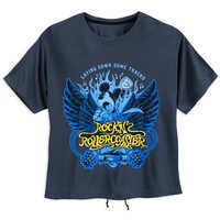 Image of Mickey Mouse Rock 'n Roller Coaster Lace-Up T-Shirt for Women # 1