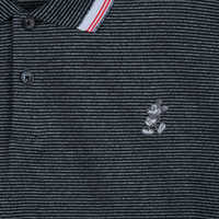 Image of Mickey Mouse Striped Performance Polo Shirt for Men by Nike - Black # 2
