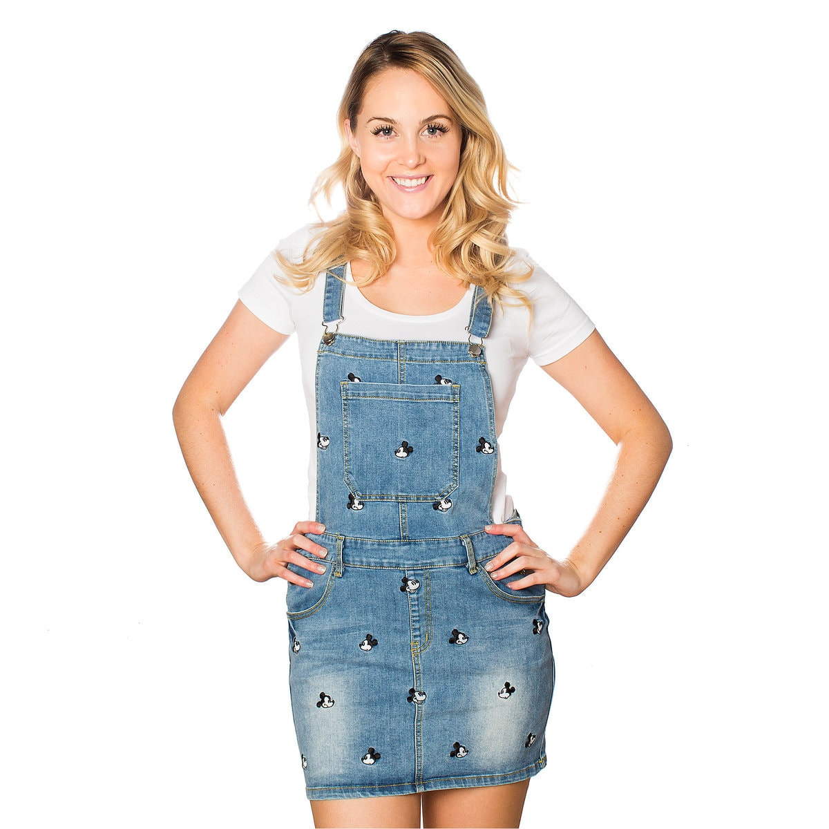 f9a6db411f7 Mickey Mouse Denim Overalls Dress by Cakeworthy