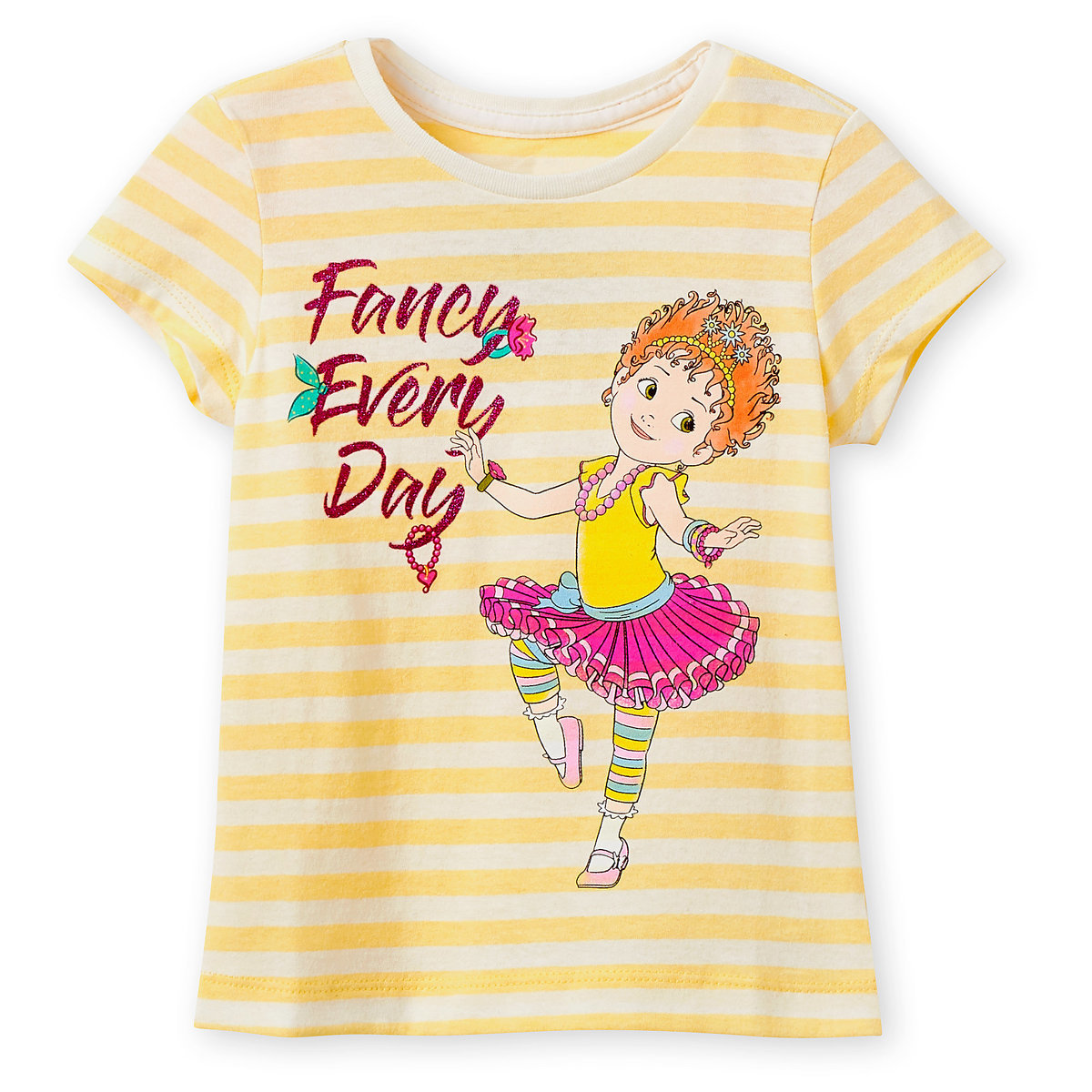 07736aac0 Product Image of Fancy Nancy Yellow Striped T-Shirt for Girls # 1