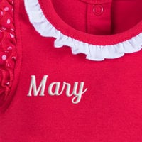 Image of Minnie Mouse Costume Bodysuit for Baby - Red - Personalizable # 5