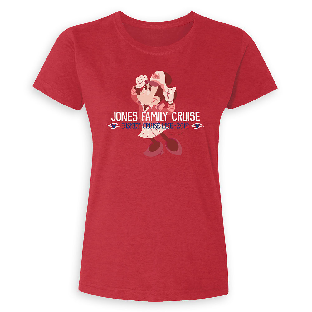 Ladies' Captain Minnie Mouse Disney Cruise Line Family Cruise 2019 T-Shirt - Customized