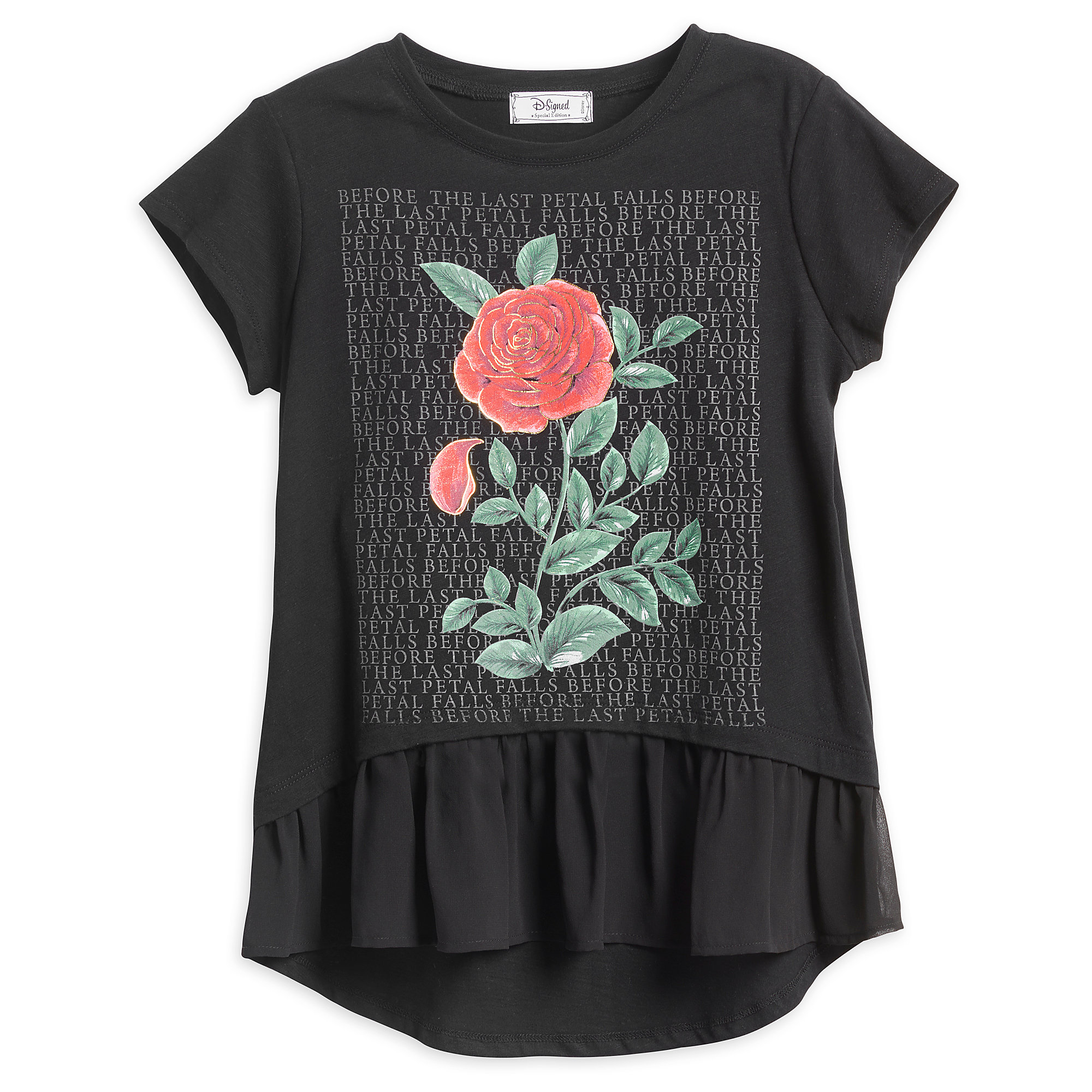 Beauty and the Beast Rose Top for Tweens