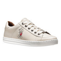 Mickey Mouse Porter Leather Sneakers for Women by COACH - White
