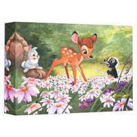 Image of Bambi ''The Joy a Flower Brings'' Giclée on Canvas by Michelle St. Laurent # 1