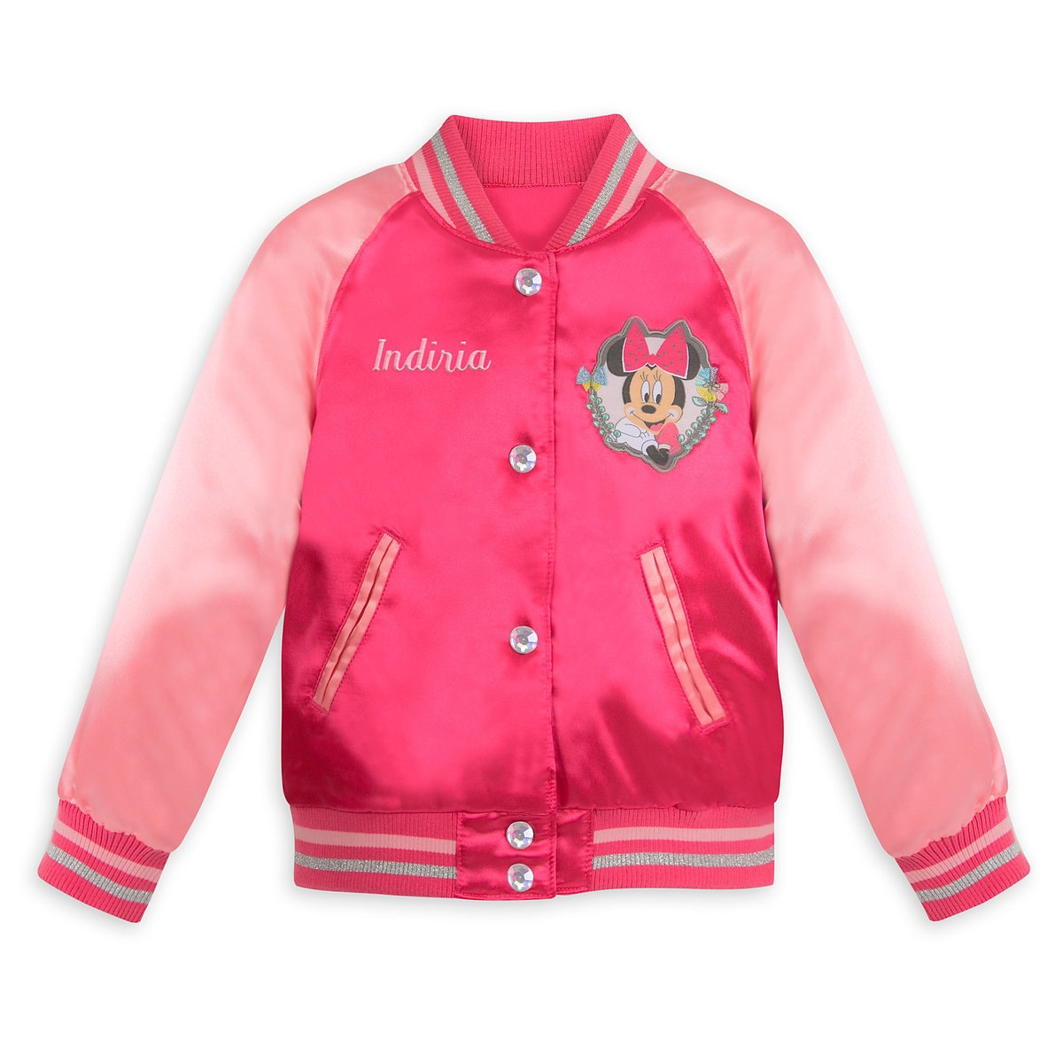 949da02ab Product Image of Minnie Mouse Varsity Jacket for Girls - Personalizable # 1